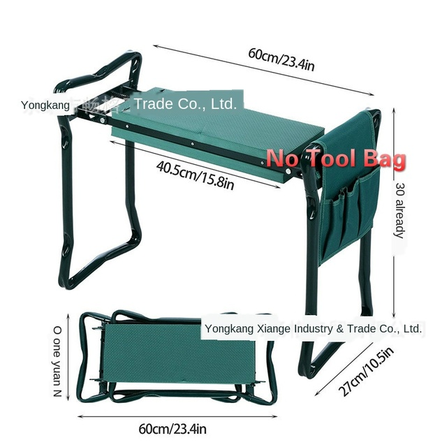 Cheap Folding Garden Kneeler and Multifunctional Seat Stainless Steel Seat Garden Stool Bearing 150KG Fast Arrive Within Days