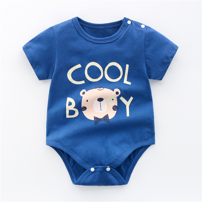 Baby Boys Clothes Short Sleeve Print Baby Rompers Summer Baby Clothing  Cotton Infant Newborn Baby Clothes Jumpsuit