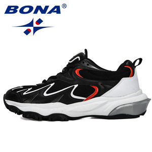 Image 4 - BONA 2019 New Popular Trendy Sneakers Men Shoes Casual Outdoor Comfortable Mesh Microfiber Breathable Man Footwear Non Slip