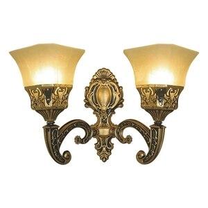 Image 4 - Lámpara de pared Led de estilo europeo para sala de estar, aplique de Metal estilo Retro E27 para decoración de interiores y Iluminación del pasillo