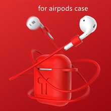 Mini Soft Silicone Case For Apple Airpods Protective Cover Shockproof Cover Earphone Capa for Air Pods Protector Case недорого