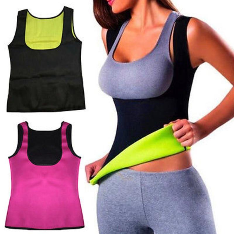 Women Neoprene Shaper Body Corset Slimming Waist Slim Trainer Shapers Vest T-Shirt Tops New ShapewearShapers Lingerie Shapewear