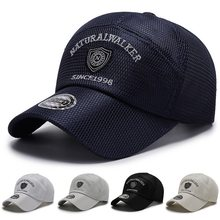 Spring And Summer Baseball Caps For Man Casual Style Polyester Mesh Embroidery Outdoor Play Sports Male Hats