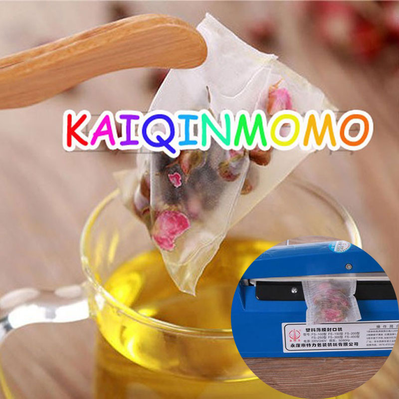 1000pcs/lot Nylon Tea Bag Heat Sealable Pyramid Tea Filters Semi-transparent Empty Teabags 5.8*7cm 6.4*8cm