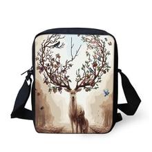 HaoYun Womens Fashion Messenger Bags Cartoon Deer Pattern Girls Cross Body Bag Fantasy Animal Design Mini Flaps Purse