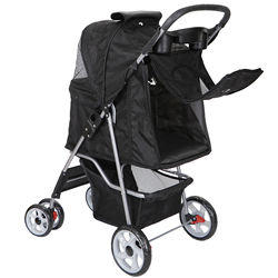 Dog Stroller Travel Folding Carrier Small Medium Cat Pet with Safe Cup Holder