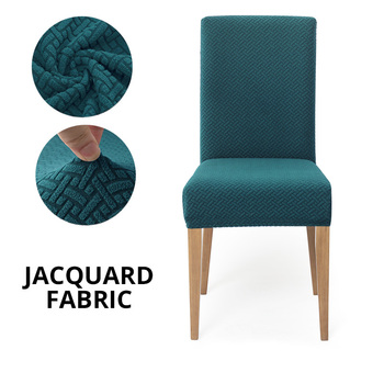 Jacquard Extensible Dining Chair Cover Spandex Slipcover Case for Chairs Kitchen Dining Room Chair Covers Elastic Stretch 15