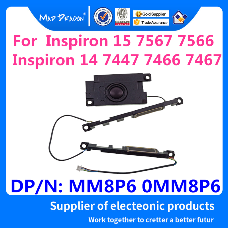 laptop new internal Built-in <font><b>speaker</b></font> Left Right Kit Subwoofer for Dell Ins 15 7567 7566 Inspiron <font><b>14</b></font> 7447 7466 7467 MM8P6 0MM8P6 image