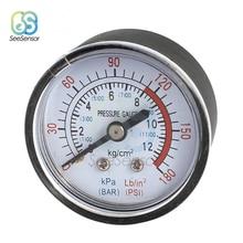 Air Compressor Pneumatic Hydraulic Fluid Pressure Gauge 0-12Bar / 0-180PSI 1/4 BSP Thread air compressor pneumatic hydraulic fluid pressure gauge 0 12bar 0 180psi
