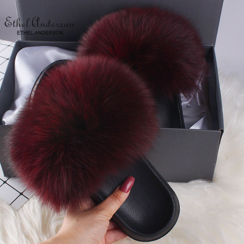 Wine Red Fox Fur