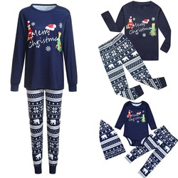 2019 Família Família Natal Pijamas Set Xmas Adulto Crianças Roupa Pijamas Set Impresso Prop Roupas Festa