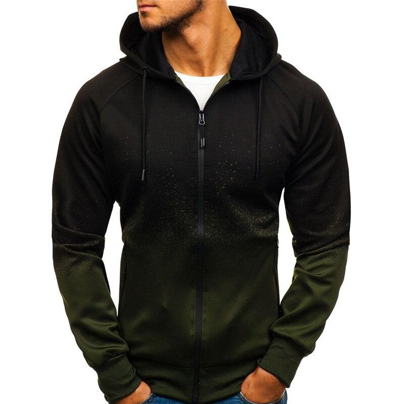 mens hoodie hoody crewneck sweatshirt men homme hoodies man street wear Outdoor Printed gradient hoodies men's casual