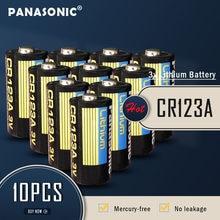 10 sztuk nowy Panasonic CR123 CR123A CR 123A 123A CR 123 A123 CR17345 16340 3V bateria litowa do aparatu latarka suche baterie
