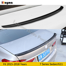 AC style  Carbon Fiber rear trunk spoiler For BMW 7 Series G11 730i 740i 750i M760i 2015 2016 2017 2018 years Car spoiler Wing carbon fiber rear spoiler window wing for bmw g11 g12 7 series 740i 750i sedan 4 door 2016 2018 mp style