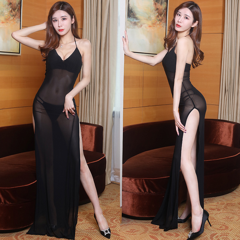 19 New Style Sexy Fashion Gauze Transparent Nightclub Bar Dress KTV Pageant Formal Dress Long Skirts
