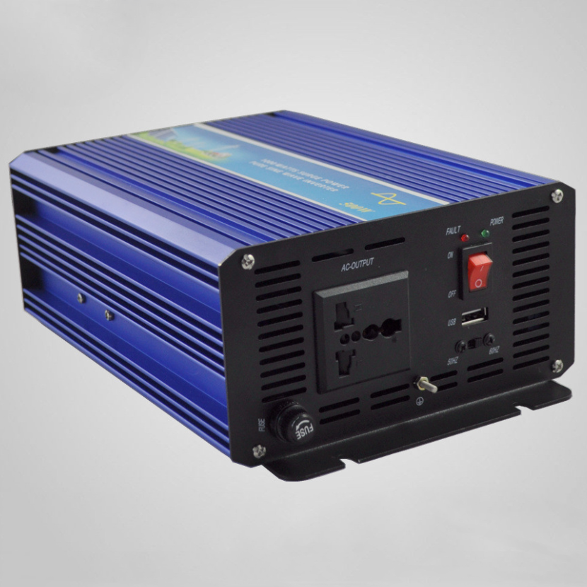 500W Solar Wind Inverter 12V 24V DC to AC 220V 110V with 1000W Surge Power, 500W Off Grid Power Inverter Pure Sine Wave Output