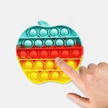 Karikatür itme kabarcık Fidget duyusal oyuncak rahatlatmak stres bulmaca interaktif oyunlar oyuncaklar silikon stres rahatlatıcı yıkanabilir bulmaca oyuncak