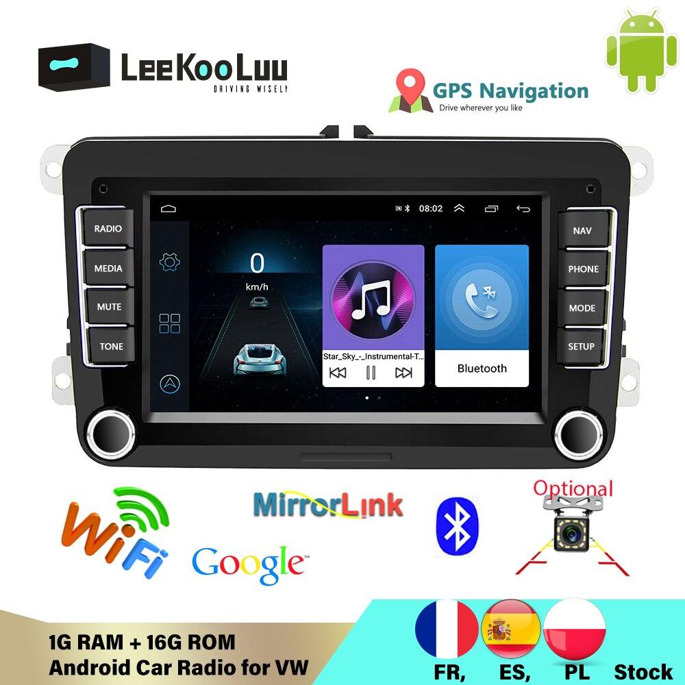 Автомагнитола LeeKooLuu, мультимедийная стерео-система на Android, с GPS, для VW/Volkswagen, Skoda Octavia, golf 5, 6, touran, passat B6, polo, Jetta, типоразмер 2 Din