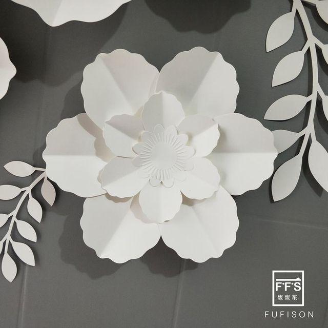 FFS Weiß 3D künstliche papier Blume rosetten drei-dimensional hochzeit Wand Dekoration