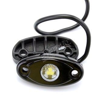 100pc 9W led fog lamp car fog light blue red green amber white slim flush mount backup light outline led