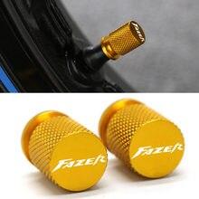 Para yamaha fz1 fz6 fz8 fazer 150 250 400 1000 motocicleta cnc de alumínio accessorie roda pneu válvula caule caps cnc hermético tampas