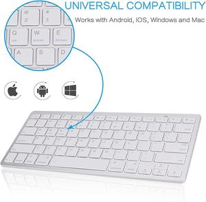 Image 5 - Ultra Slim Wireless Keyboard for Desktop Laptop Tabelt and For Apple iPad iPhone MacBook Android Windows PC Bluetooth Keyboard