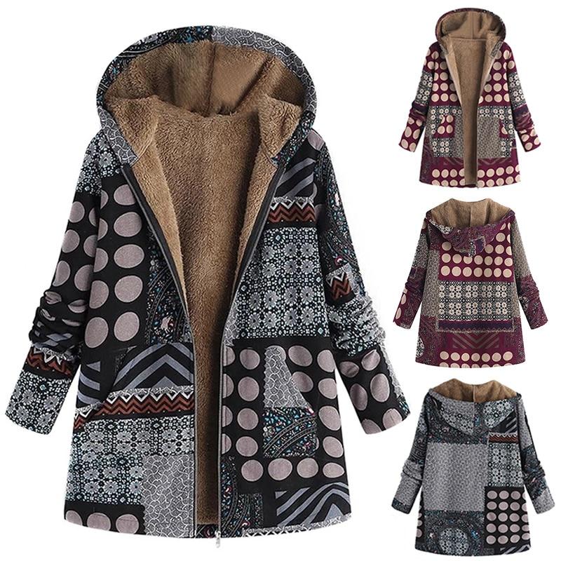 Женские зимние пальто больших размеров с хлопковой подкладкой, утепленные куртки с капюшоном TT @ 88