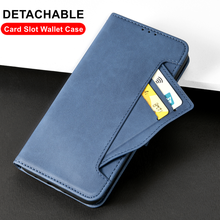 Detachable Card slot Wallet case For Xiaomi POCO X3 Pro F3 Cover Wallet Stand Anti Knock Flip Cover