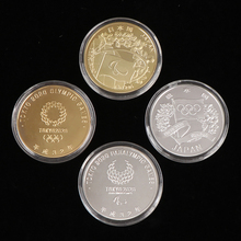 Japan 2020 Olympic Game Silver Gold Coin Collectibles Souvenir Dia 40mm Commemorative Coins for Arts Collection Gift