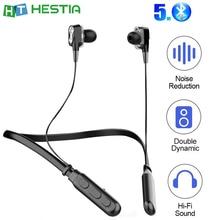 G01 Dual Driver Earphone Bass Sound Bluetooth Neck Headset TWS Wireless Headphones Running Sports Ear phone Volume Control