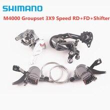 Shimano mountain bike alivio m4000 groupset 3x9/27 velocidade 3 peças/rd + fd shifters