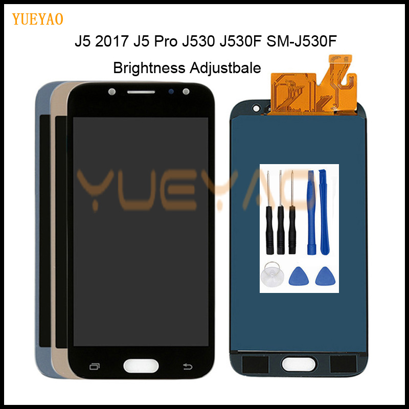 Adjustable LCD Galaxy J530 2017 For Samsung J5 2017 Display Touch Screen Digitizer J5 Pro J530 J530F LCD 5.2'' Inch With Tool