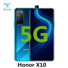 Honor X10 5G Smartphone 4300mAh 6.63 Pollici Kirin 820 Octa core 40MP Posteriore della macchina fotografica 6GB di RAM 64GB di ROM telefoni Cellulari
