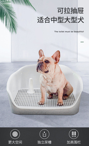 Bandeja de tocador portátil Para mascotas, soporte Para almohadilla Para adiestramiento de cachorros, caja Para arena Para orina, fácil de limpiar, producto Para orinal de mascotas Inodoro KK60CS