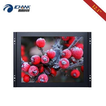 """ZK120TN-592/12.1"""" inch 1024x768 HDMI Metal Case Embedded Open Frame PC Monitor LCD Screen With Scratch Protective Tempered Glass"""