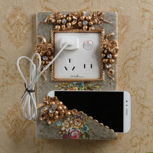 luxury switch stickers resin wall stickers mobile phone holder home wall jewelry living room bedroom socket creative stickers