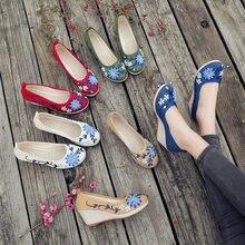 Женские Высокие туфли на платформе женские лодочки с вышивкой