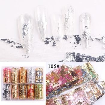 1set/lot 2.5*100cm Butterfly Spring Mix Flower Starry Sky Nail Foils set Transfer Sticker DIY Manicure Decoration Decals - 105