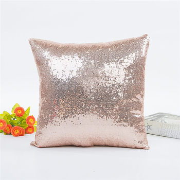 Champagne Sequin Throw Pillow 4
