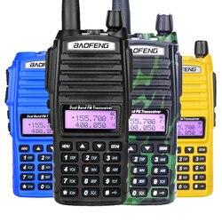 Baofeng UV-82 Walkie Talkie doble PTT UV 82 portátil dos Radio VHF UHF jamón estación de Radio CB 1 Uds UV82 caza transceptor