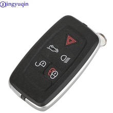 jingyuqin 5 Button Key Housing For LAND ROVER RANGE ROVER SPORT LR4 Vogue 2010 2013 Remote Keychain Cover With Logo