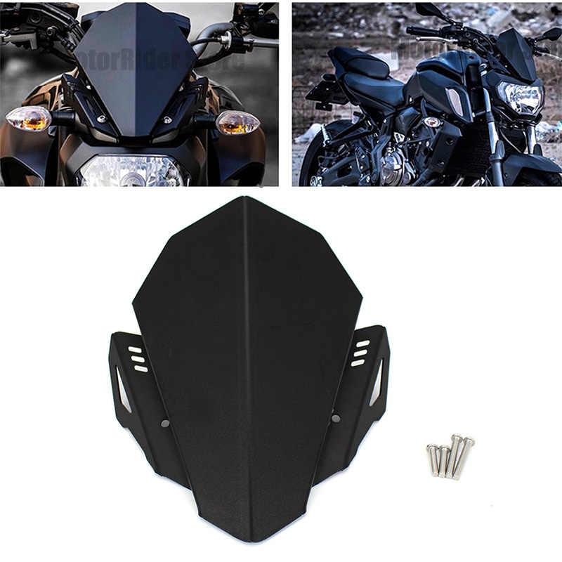 Motor CNC Aluminium Kaca Depan Kaca Depan Kit Deflektor Cocok untuk Yamaha MT-07 MT 07 2018 2019 MT07 FZ07 FZ-07 2020