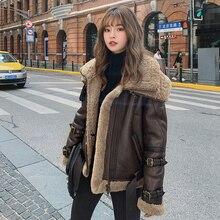 Natural Real Fur Coat Female Winter Wool Liner Sheepskin Coats
