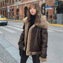 Natural Real Fur Coat Female Winter Wool Liner Sheepskin Coa