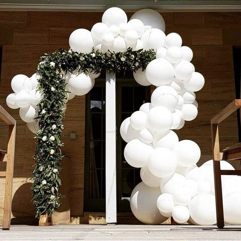 20 шт./лот, белые латексные шары с днем рождения, воздушные шары на День святого Валентина, свадебное украшение, надувные гелиевые шары для не...