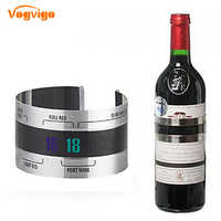 VOGVIGO Stainless Steel Household Wine Bracelet Thermometer (4--24'C) Red Wine Temperature Sensor for Beer Homebrewing Bar Tool