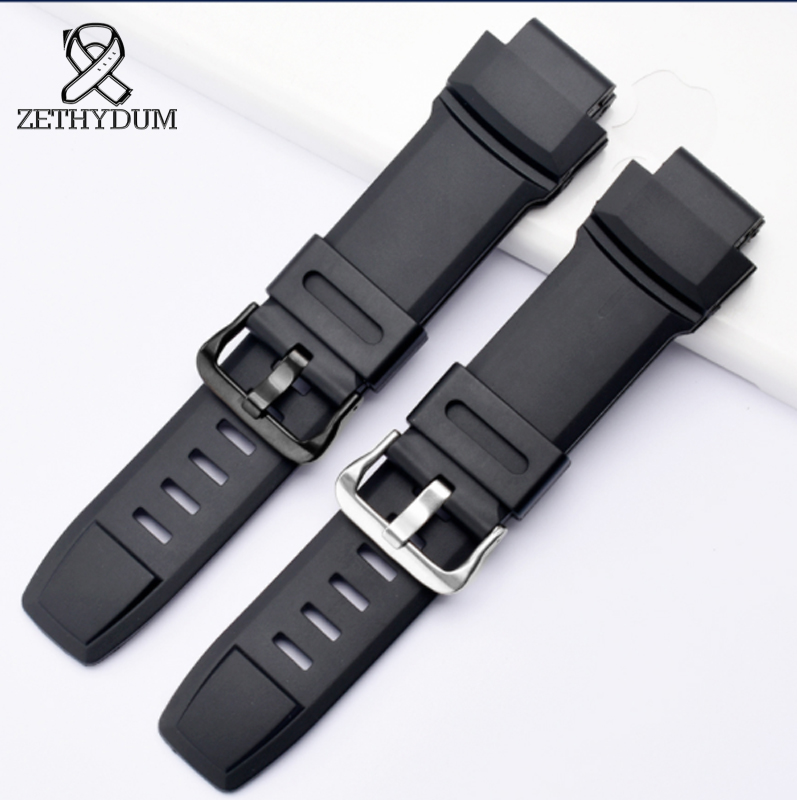 For Prg-260 / 550 / 250 / Prw-3500 / 2500 / 5100 Waterproof Sweat Resistance Natural Rubber Watch Strap Men's Watch Accessories