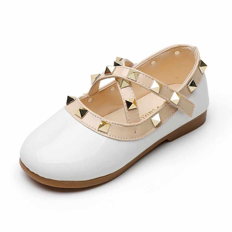 2020 חדש בנות נעלי נסיכת מעוור נעלי מסמרת צלב-קשור מרי Janes נעלי ילדים לבן חתונה נעלי פעוטות k230