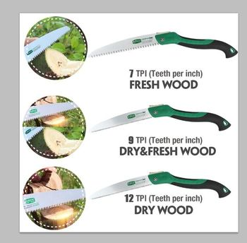 LAOA Portable Folding Saw 7T/12T Hand Saw 250mm Pruning Shears Serra Gardening Tool Hunting Implement 2