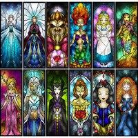 Pintura de diamante 5D DIY de princesas de fantasía de Disney, tema de dibujos animados, Bordado hecho a mano redondo y cuadrado completo, punto de cruz, regalo de decoración del hogar